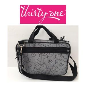 NWOT Thirty-One Gray&Black Toiletry Case